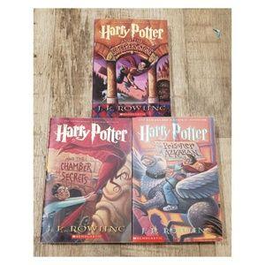 Lot of 3 Harry Potter Books Pbk 1 2 3 Sorcerers